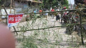 বেনাপোলে ৭ দিনের কঠোর লকডাউন, মাঠে পুলিশি টহল