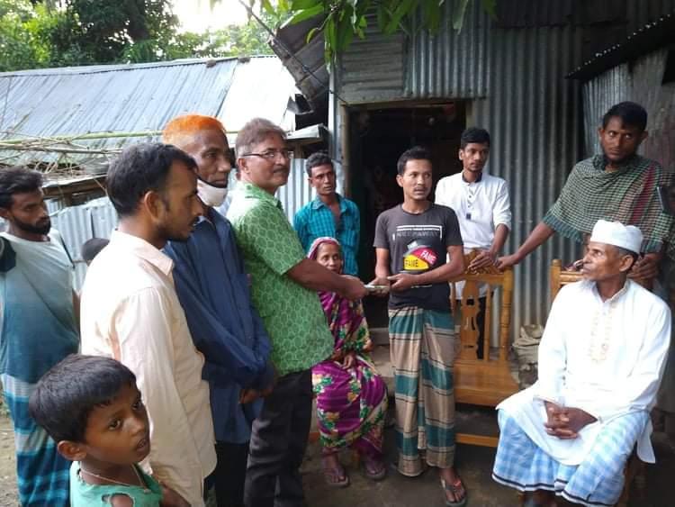 হবিগঞ্জের গোপায়ায় ক্যান্সার রোগীকে অর্থসহায়তা প্রদান